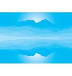 Blue mountain landscape silhouette vector image vector image