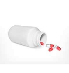 Bottle with pills vector image vector image