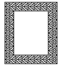 Celtic key pattern - frame border vector