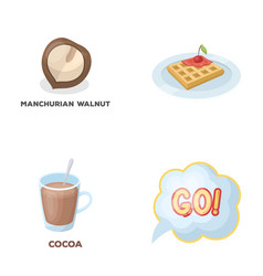 Cooking drink and other web icon in cartoon style vector