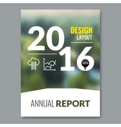Cover magazine design template beautiful annual vector