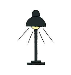 Desk lamp light bulb electricity object vector