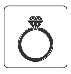 Diamond engagement ring icon 6 vector image