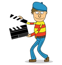 Director cartoon vector image vector image