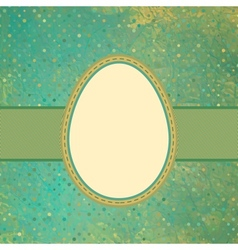 Egg on polka dot background EPS 8 vector image