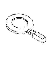 Figure magnifying glass tool to search and explore vector