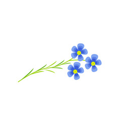 Flax flower cartoon vector
