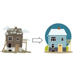 Flip this house vector image vector image