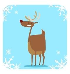 Happy cartoon Christmas Reindeer vector image vector image