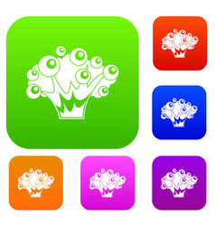 high power explosion set color collection vector image