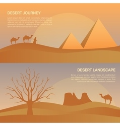 Landscape in egypt desert vector