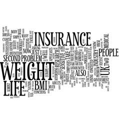 Life insurance fat customers tell porkies text vector