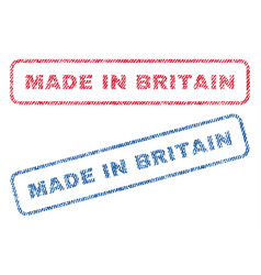 Made in britain textile stamps vector