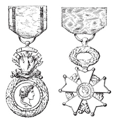 Medal Legion of Honor vector image