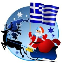 Merry Christmas Greece vector image vector image