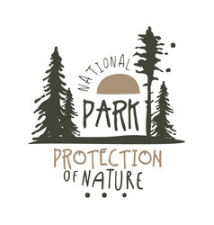 National park protection of nature design template vector