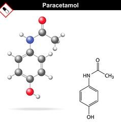 Paracetamol molecular structure vector
