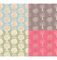 Pattern with tree vector image vector image