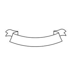 ribbon banner decoration emblem empty vector image vector image