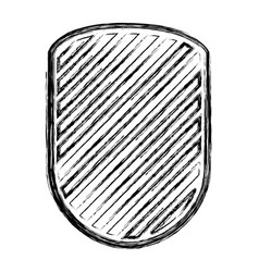rounded shield in monochrome blurred contour and vector image vector image