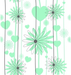 Set floral seamless background vector image vector image