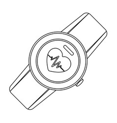 Sports wrist watch with heart rate measurement vector