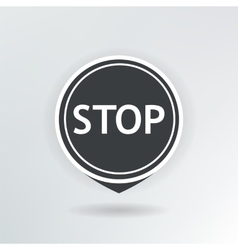 stop map pointer vector image