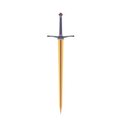 sword medieval icon knight weapon isolated war vector image