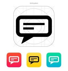 Text bubble icon vector image