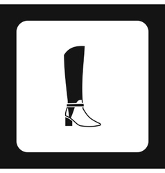 Womens high boots icon simple style vector
