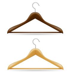 wooden clothes hanger vector image