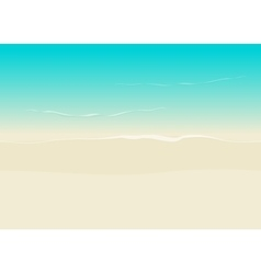 Beach background seamless sea coast and sand vector image