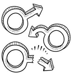 Doodle gender male viagraish vector