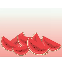 Watermelon with slices isolated vector