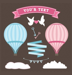 Wedding balloon set vector