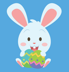 Easter bunny with easter egg collection vector