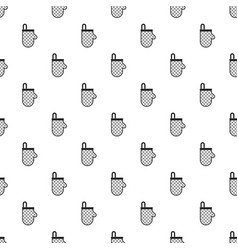 kitchen protective glove pattern vector image