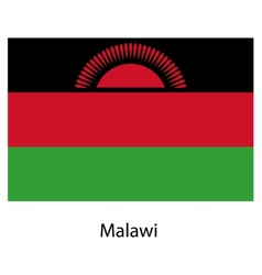 Flag of the country malawi vector