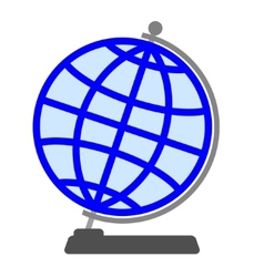 Globe on a white background vector