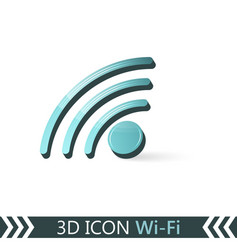 3d icon wi-fi vector