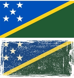 Solomon islands grunge flag vector
