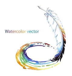 Abstract watercolor pen vector