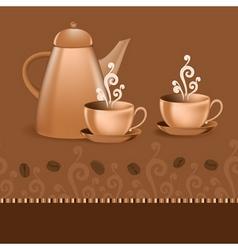 coffee border theme vector image