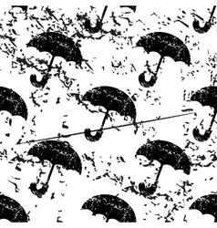 Umbrella pattern grunge monochrome vector