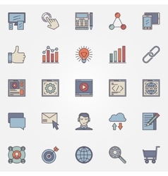 Seo optimization icons set vector