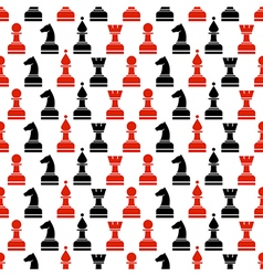 Seamless chaotic pattern with black chess vector