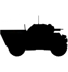 Armoured car silhouette vector