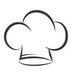 chef hat uniform isolated icon vector image