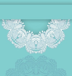 Circular floral ornament wedding vector