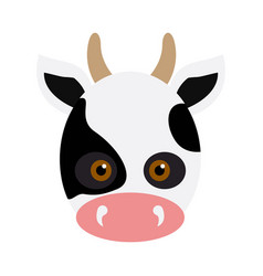 Cow animal carnival mask white black dotted beef vector